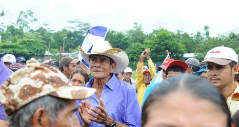 Marcha número 88 de los campesinos en contra del Canal Interoceánico en el poblado Polo Desarrollo Daniel Guido en el caribe sur del Pais. Wilmer Lopez/ LA PRENSA.