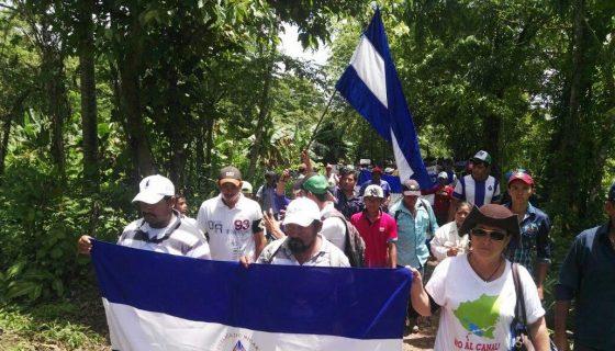 campesinos anticanal, represión