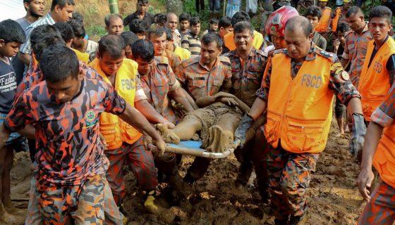 Bangladesh, deslizamientos, lluvias