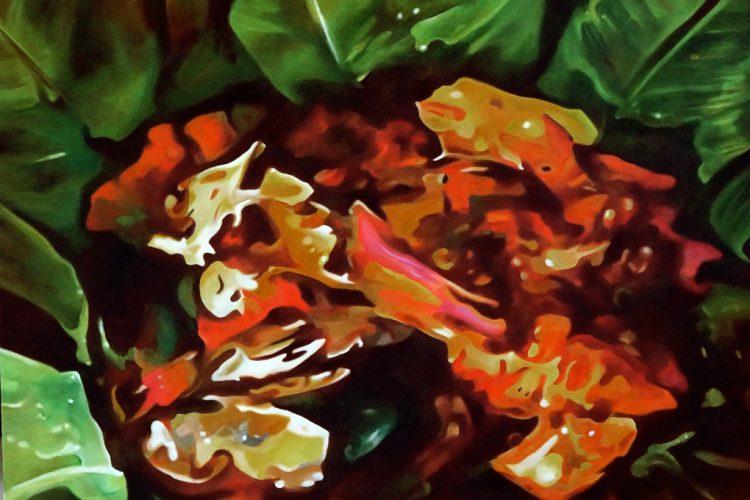 Vaho, obra acrílica sobre lienzo, de la pintora Laura Báez de Lacayo. LAPRENSA/FOTOS/Arnulfo Agüero