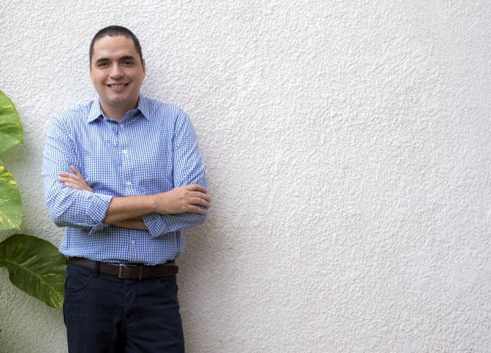 Juan Carlos Ampié, crítico de cine. LA PRENSA/ ÓSCAR NAVARRETE