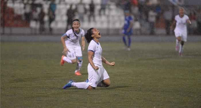 Alys Cruz se convirtió en la salvadora de la Selección Nicaragüense de Futbol Femenino Sub-20, con su gol en tiempo extra. LA PRENSA/ROBERTO FONSECA