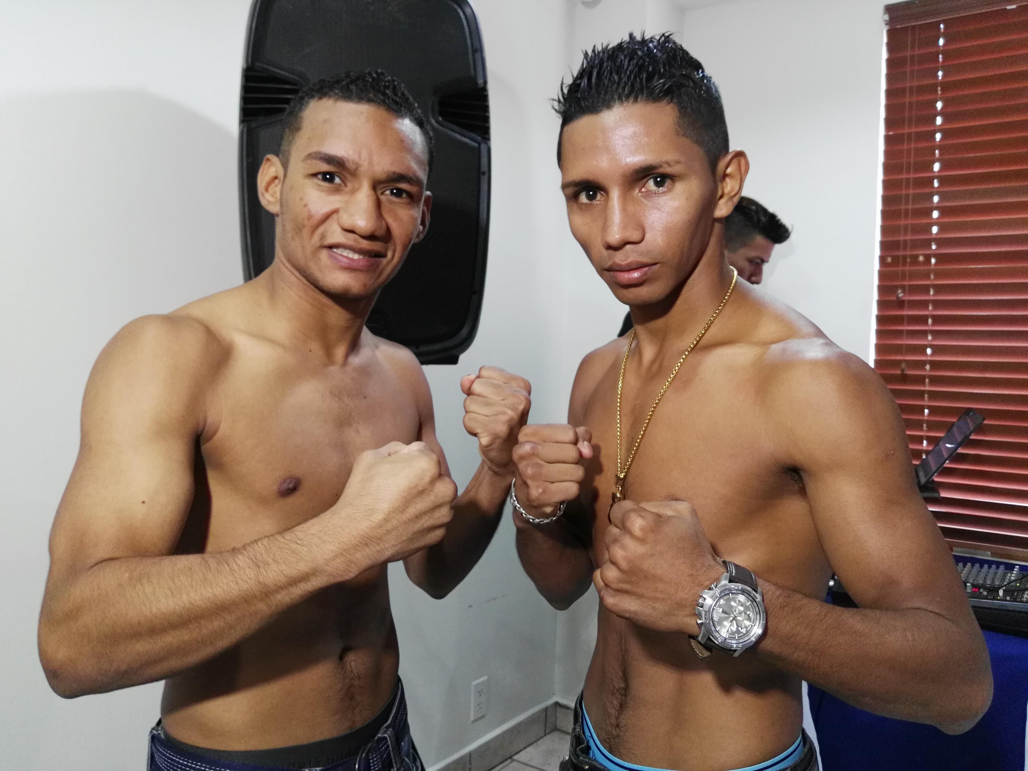 Carlos Ortega y Byron Rojas se encontraron este miércoles en Managua. Foto: LA PRENSA/ Bayron Saavedra