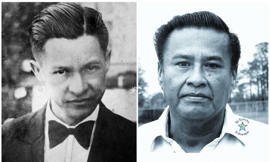 Fotografías de Augusto C. Sandino (izquierda) y de Arístides Pavón, su nieto que trabajó para Anastasio Somoza. LA PRENSA / Cortesía: Nicolás López Maltez.