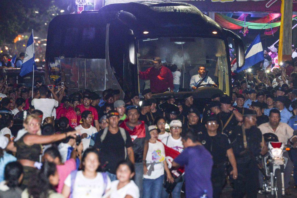 Managua, Nicaragua 07 de Julio del 2017. El presidente Daniel Ortega durante la gira al repliegue 2017 en el 38 aniversario del Repliegue. FOTO/LA PRENSA/CARLOS VALLE.