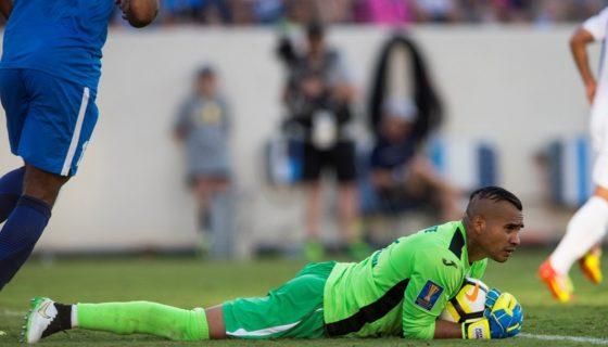 El portero Justo Lorente fue el mejor jugador de la selección de futbol de Nicaragua en la Copa Oro 2017. LA PRENSA/ARCHIVO JADER FLORES