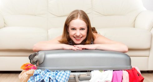 Ropa infaltable, maleta de viaje