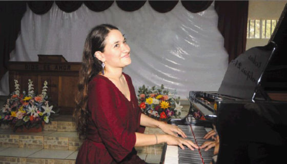 Pianista Valeska Lovo. LAPRENSA/Roberto Fonseca