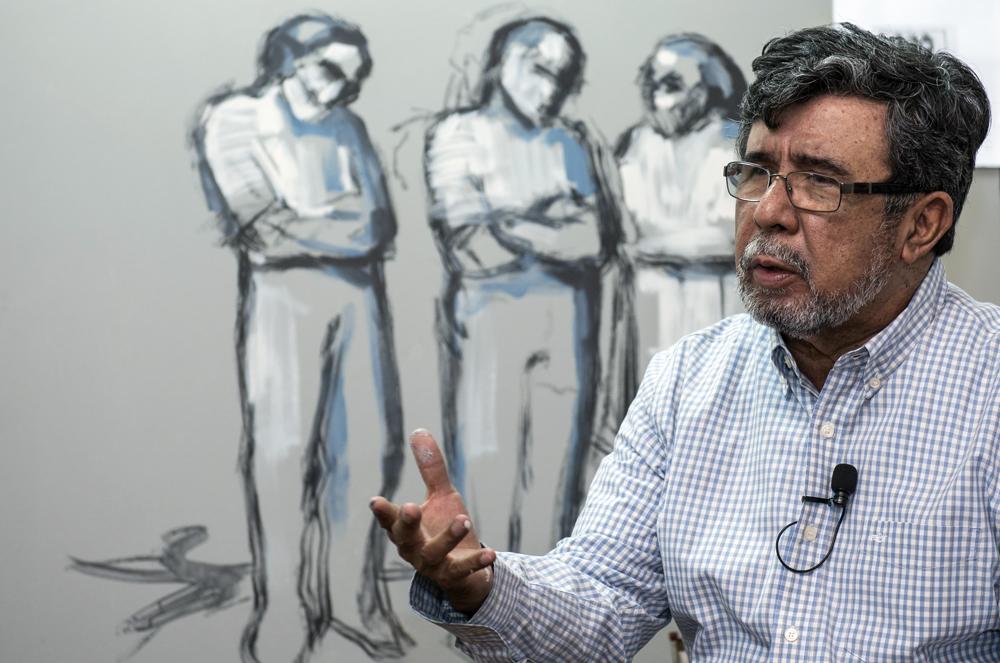 El maestro pintor Róger Pérez de la Rocha. LA PRENSA / Óscar Navarrete.