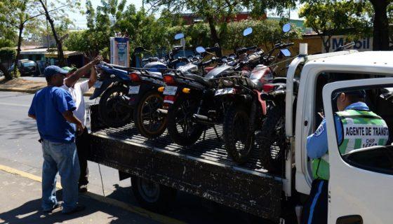 policía de tránsito, policía nacional, motorizados, parque vehicular, Managua, Alcaldía de Managua