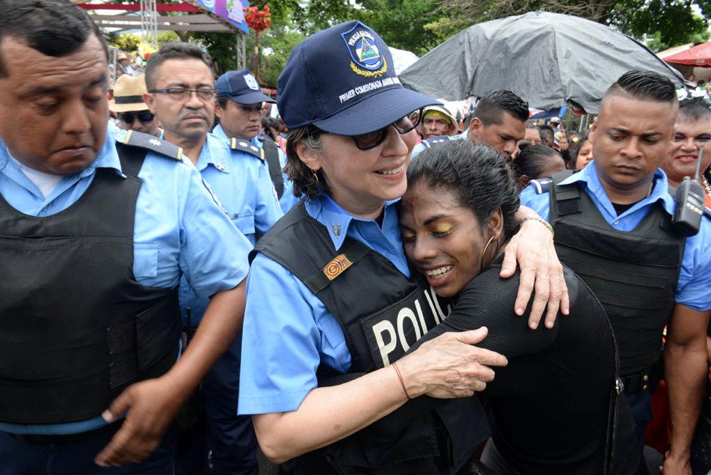 ara esta celebración, la Policía desplegó, desde el mediodía del 31 de julio, a tres mil agentes. En la imagen, la primera comisionada Aminta Granera. LA PRENSA / Manuel Esquivel.