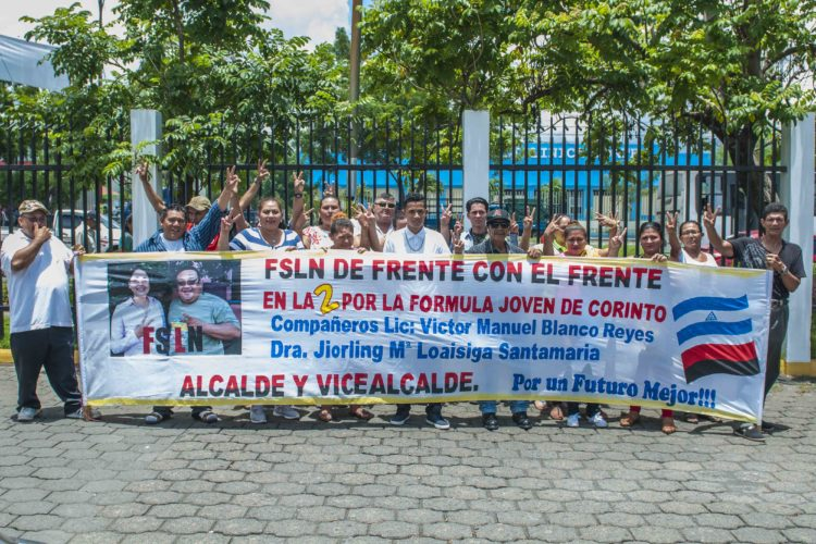 Militantes del FSLN