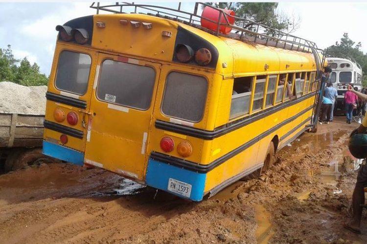 Caribe Norte, lluvias, caminos dañados