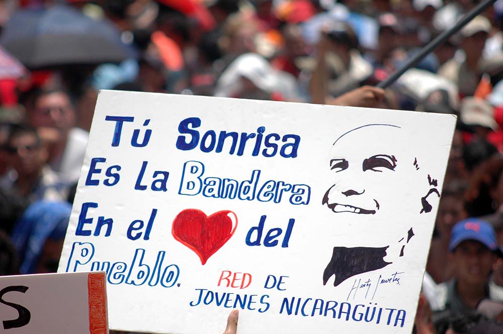 Un cartel retrata el cariño que parte de la juventud nicaragüense profesa hacia Herty Lewites. LA PRENSA / Cortesía: archivo personal de Óscar Navarrete