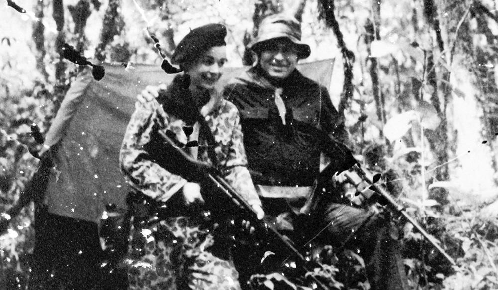 Los guerrilleros sandinistas Herty Lewites y Nora Astorga. LA PRENSA / Archivo