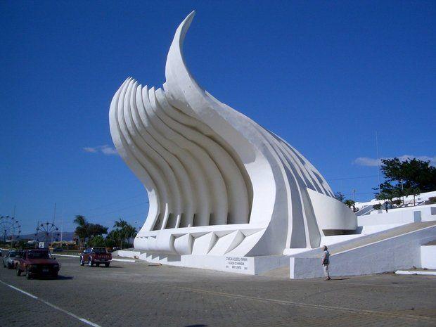 La Concha Acústica de Managua, construida en 2005 durante la administración municipal de Herty Lewites, fue demolida en 2014 por el gobierno de Daniel Ortega. LA PRENSA / Tomada del periódico Hoy.