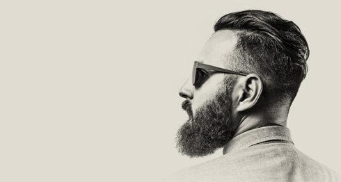 barba, hombres, rostro