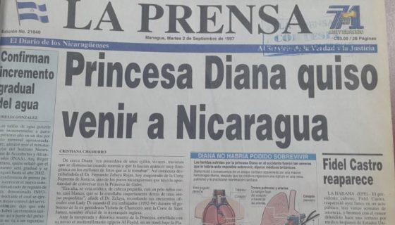 princesa diana, Nicaragua