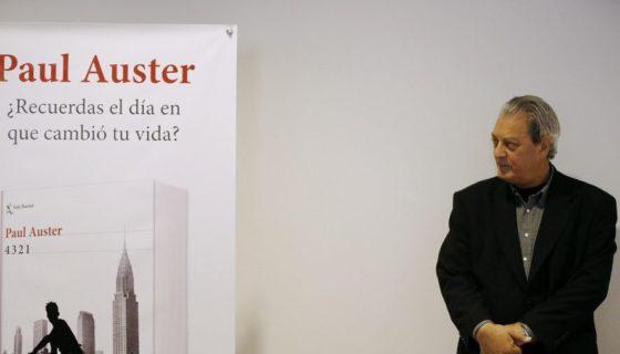 """Paul Auster, durante la presentación en Madrid de su última novela """"4321"""", emotivo retrato de toda una generación con el que explora los límites del azar y consecuencias de nuestras decisiones. lAPRENSA/EFE/J.P.Gandul"""