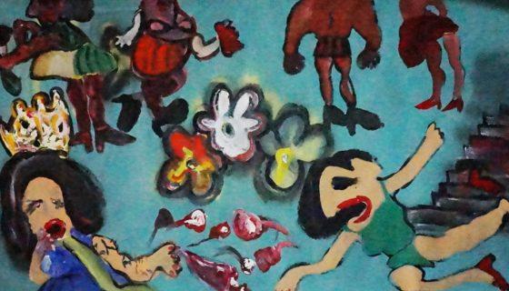 Las obras de cómic de Federico Alvarado además de cuestionar la idealización del poder, ridiculizan las sociedades disfuncionales. LAPRENSA/Arnulfo Agüero