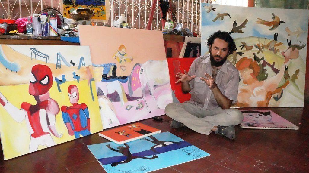 Artista plástico Federico Alvarado. LAPRENSA/Arnulfo Agüero