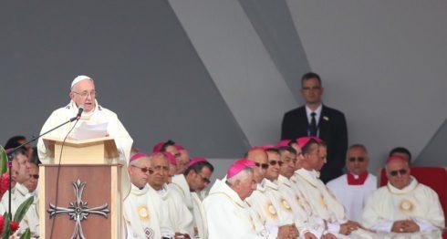 Papa Francisco, Colombia, Villavicencio. FARC
