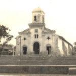 Iglesia San Juan Bautista, para los años 50 del pasado siglo, solo tenía una torre. LAPRENSA/Cortesía/Fundación Luisa Mercado