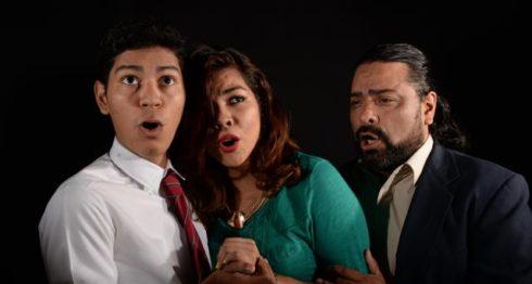 Grupo Ars Nova: El tenor Aarón Morales, la mezzosoprano Hazel Orozco y el tenor Mario Rocha. LA PRENSA/URIEL MOLINA