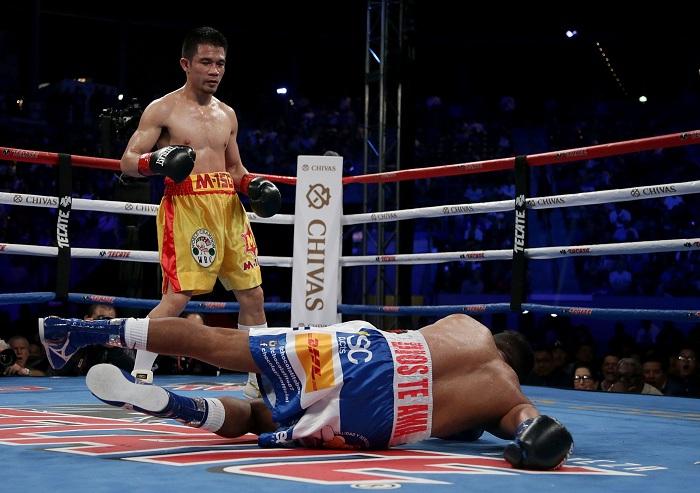 """Román """"Chocolatito"""" González fue noqueado por primera vez en su carrera de 12 años en el boxeo profesional. LA PRENSA/Jeff Gross/Getty Images/AFP"""
