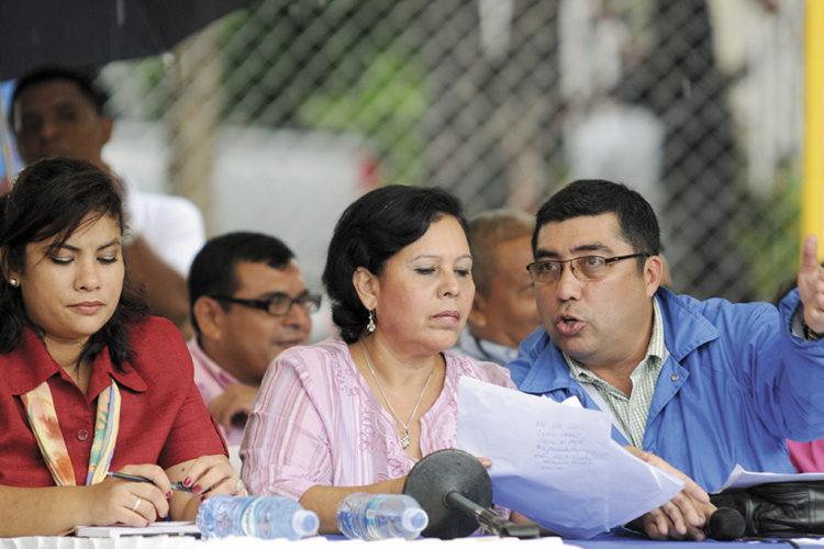 Desde que Daysi Torres asumió la Alcaldía de Managua en 2008, siempre tuvo a su lado, o a sus espaldas, a otros funcionarios. LA PRENSA/ARCHIVO