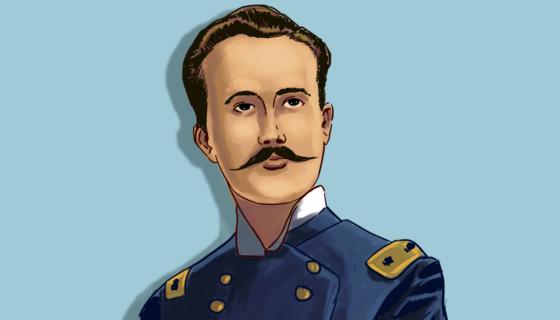 El general Rigoberto Cabezas. Dibujo de Luis González Sevilla. LA PRENSA.