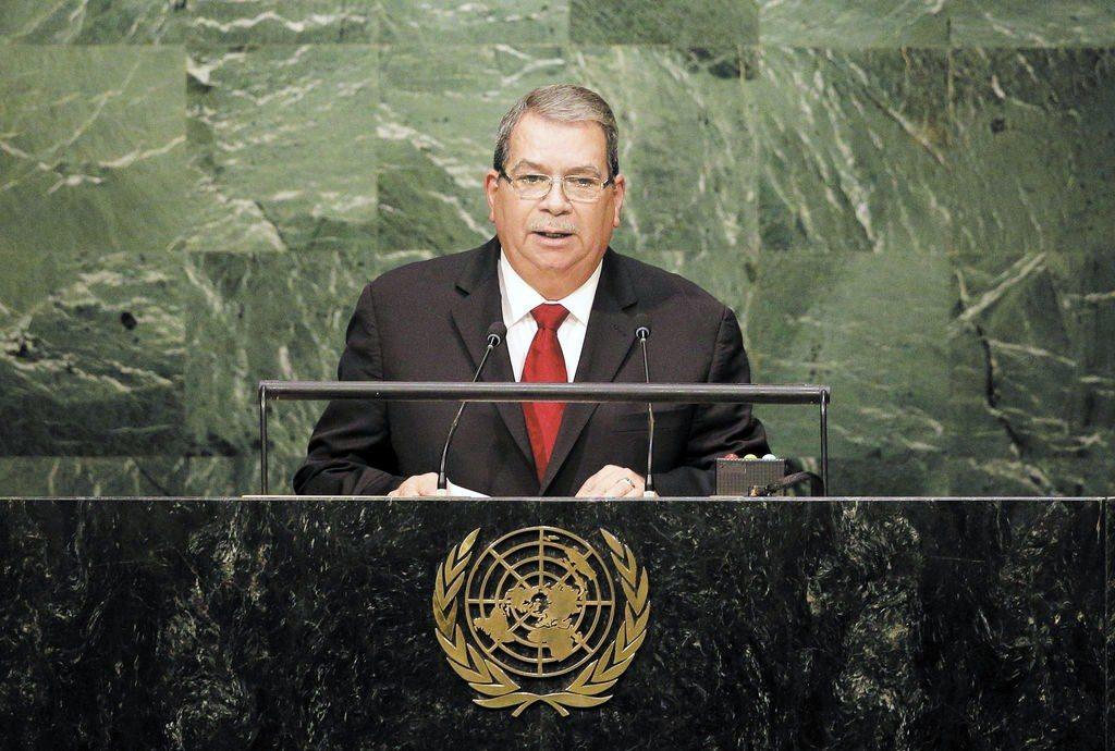 Moisés Omar Halleslevens durante su discurso en la Asamblea General de la ONU en 2015. FOTO: LA PRENSA/ AP/ ARCHIVO