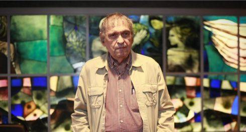 El poeta y ensayista venezolano Rafael Cadenas, durante el ciclo Diálogos poéticos impulsado por Abanca y Afundación, A Coruña. LA PRENSA/ EFE/Cabalar