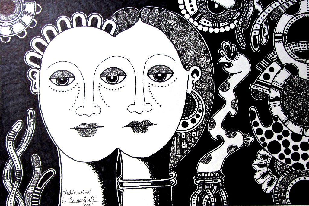 Dibujo de Luis Enrique Mejía Godoy. LAPRENSA/Cortesía