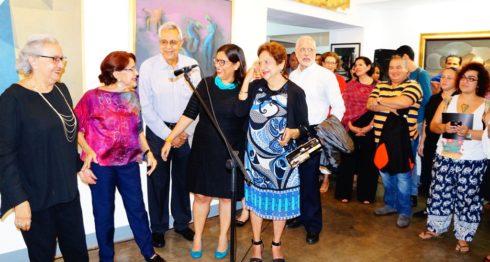 Juanita Bermúdez festejó sus 25 años de Galería Códice con obras de la modernidad y contemporáneo, las que han dejado sus huellas en las artes de Nicaragua. Esta muestra colectiva permanecerá todo el mes de octubre. LAPRENSA/Fotos /Arnulfo Agüero