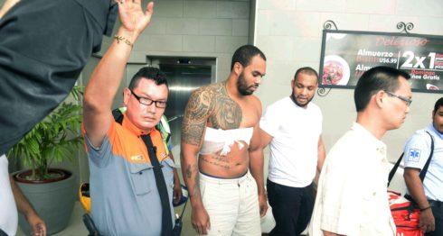 Yasser Casssani Wels, apuñalado en un foodcourt por un desconocido LAPRENSA/Manuel Esquivel