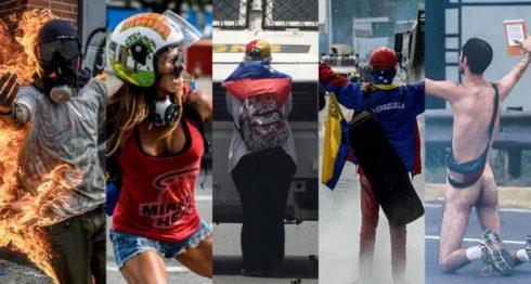 Las protestas en Venezuela dejaron 125 personas murieron. LA PRENSA/AFP