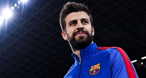 Gerald Piqué jugador vasco del Futbol Club Barcelona y de la Selección de España, 30 años.