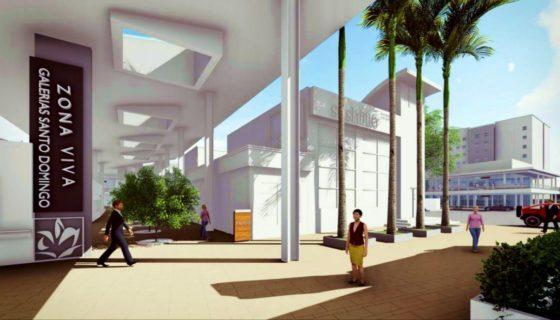 Zona Viva de Galerías Santo Domingo será remodelada. LA PRENSA/ CORTESÍA