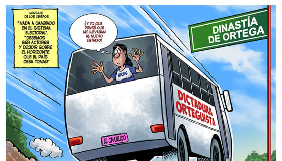 caricatura, Daniel Ortega, Manuel Guillén
