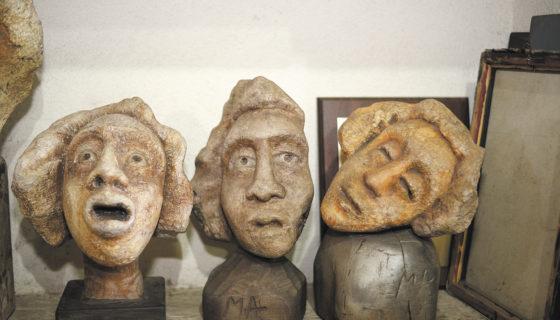 La exposición de esculturas El grito de un salvaje, se exhibirá en Galería del Centro Cultural Pablo Antonio Cuadra. LAPRENSA/MANUEL ESQUIVEL