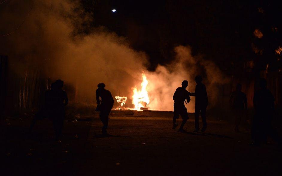 """La """"Casa Verde"""" de Yatama fue quemada durante la noche del lunes por supuestos simpatizantes del FSLN. LA PRENSA/ MANUEL ESQUIVEL"""