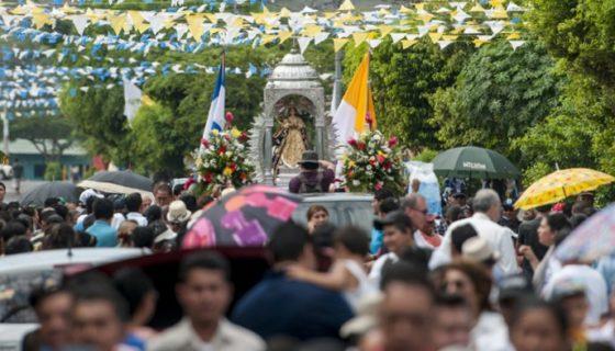 La Virgen del Trono tiene ubicada su basílica en El Viejo, Chinandega. LA PRENSA/ JORGE TORRES