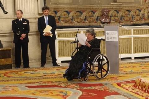 Poeta Claribel Alegría, Premio de Poesía Iberoamericana Reina Sofía. LAPRENSA/Cortesía Daniel Rodríguez Moya