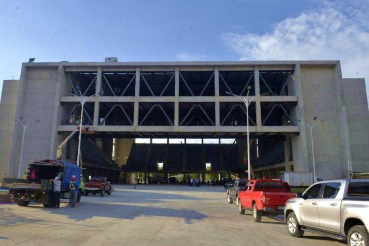 Esta es la fachada del polideportivo Alexis Argüello. LA PRENSA/ MANUEL ESQUIVEL
