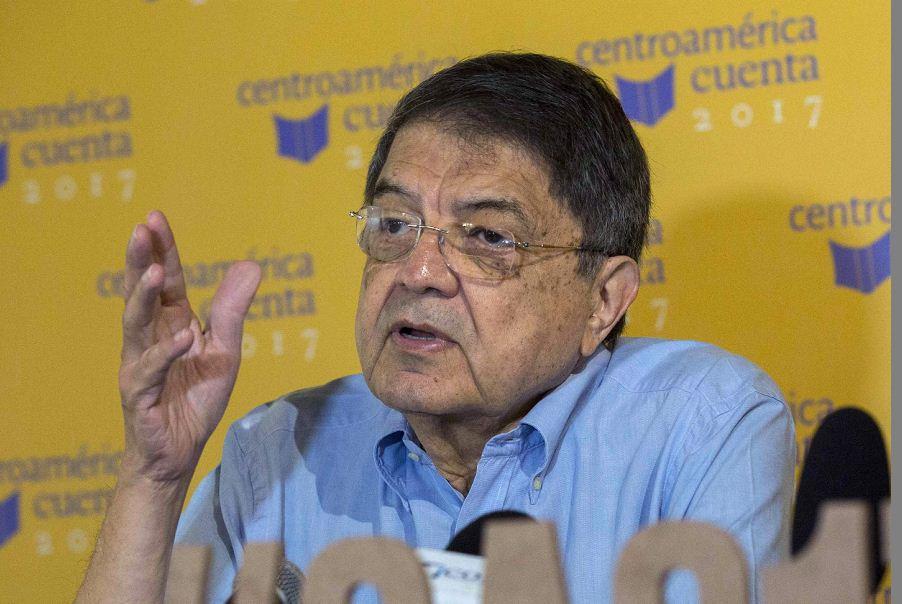 Sergio Ramírez, en la edición del Encuentro de Narradores Centroamérca Cuanta. LA PRENSA/ EFE/Jorge Torres
