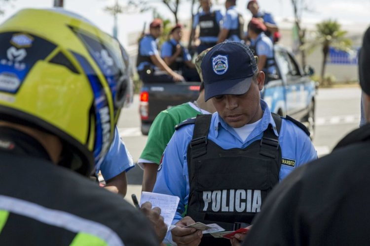 multas de tránsito, Nicaragua, policía de tránsito