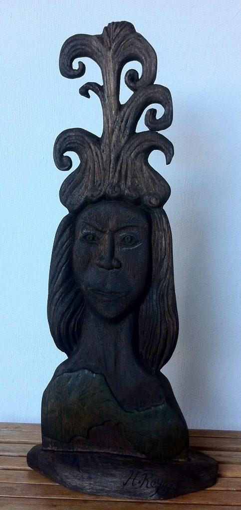 Diosa Ometepina, escultura de Hamilton Reyes. LA PRENSA/Cortesía/Fernando López