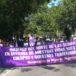 Mujeres marchan por el día Internacional de la No Violencia en Nueva Segovia