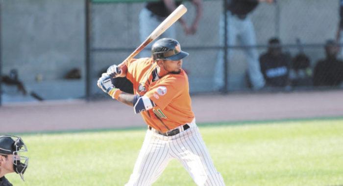 Elmer Reyes bateó para .363 con 25 anotadas y 27 impulsadas con los Olmecas de Tabasco en el primer torneo 2018 de Liga Mexicana de Beisbol. LA PRENSA/ Cortesía
